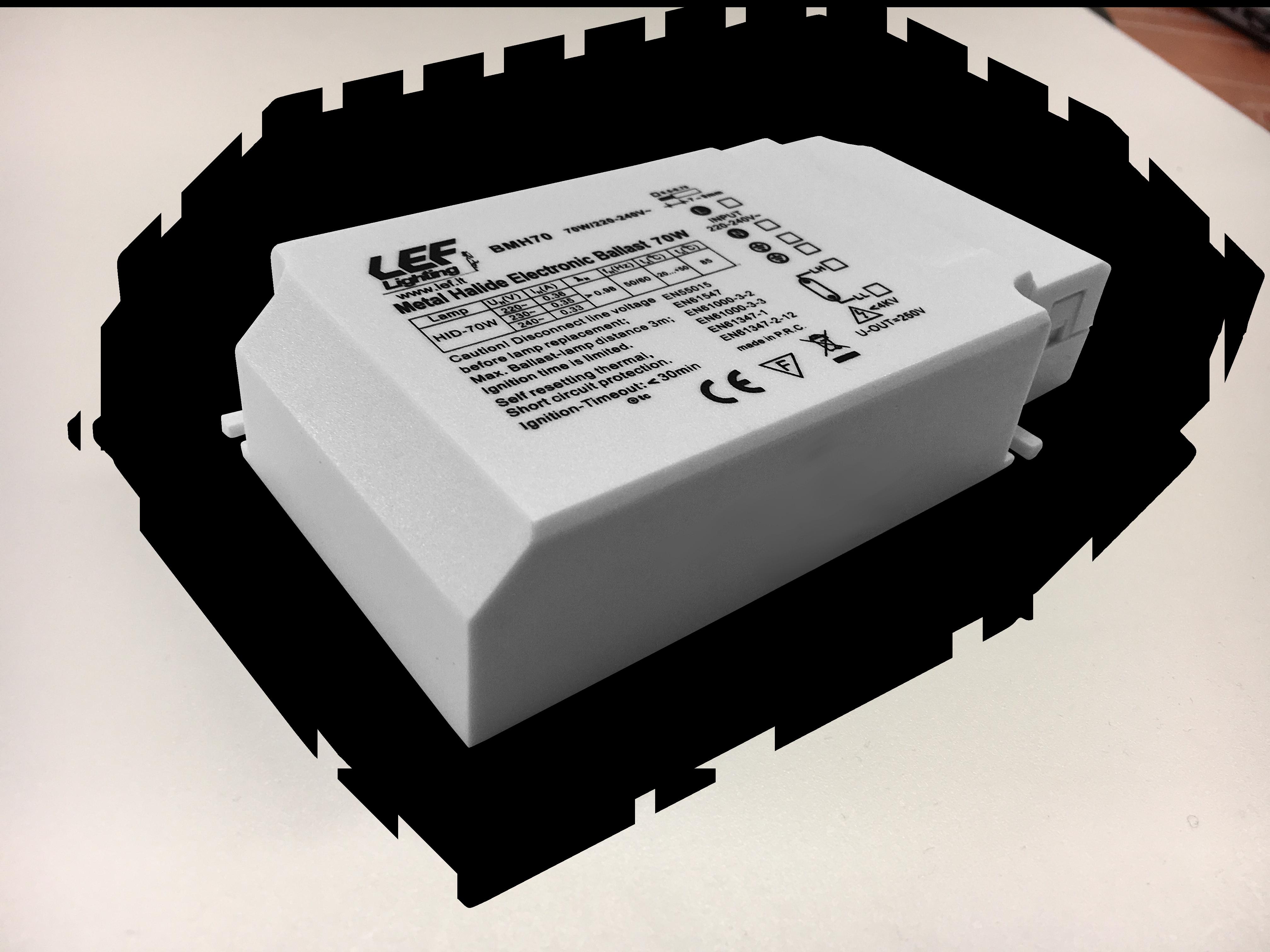 ALIM. EL.X LAMP SCAR 70W CL1/2 135X75X31