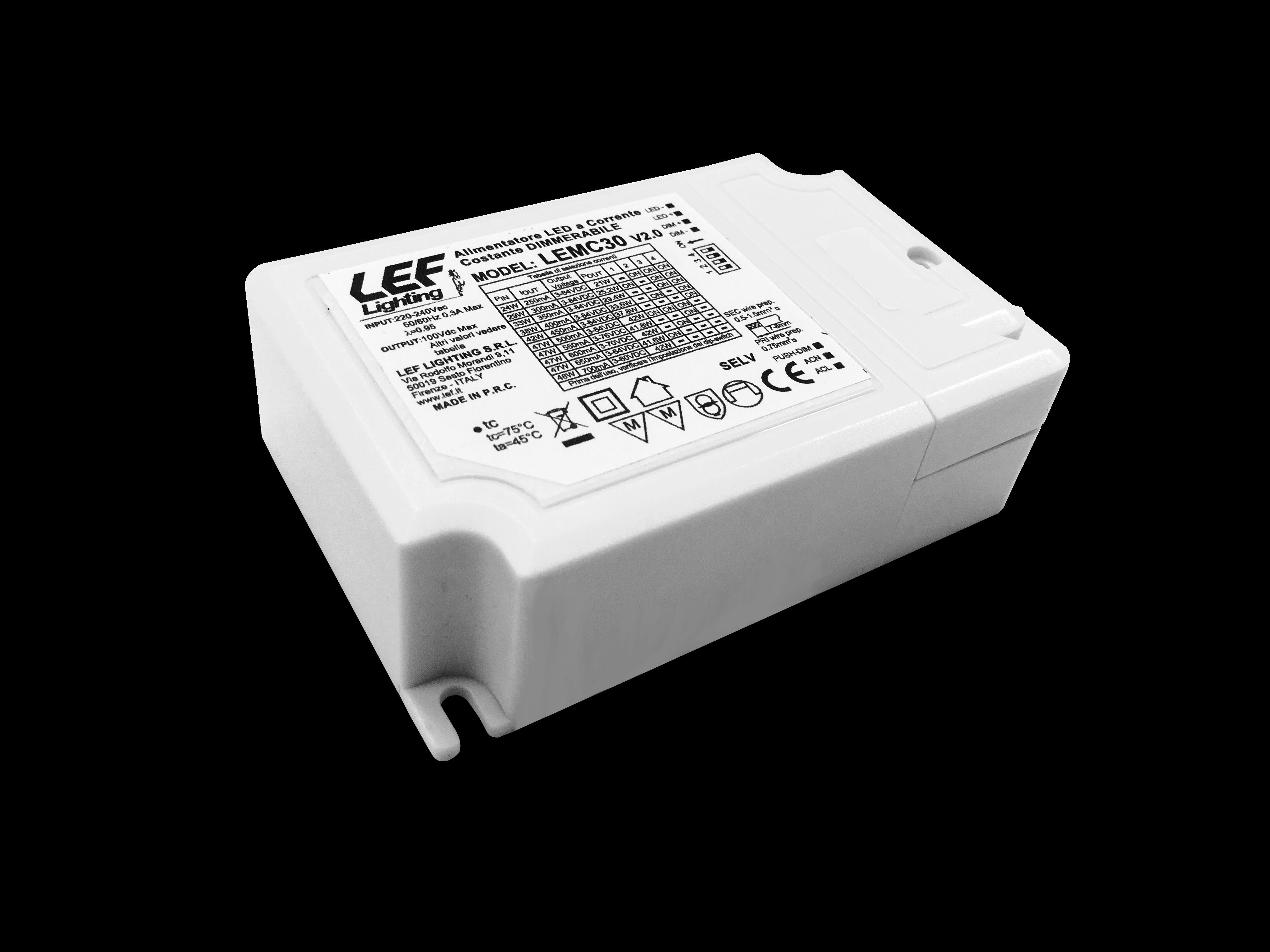 ALIM.LED 250÷700MA 21÷42W DIM.PUSH/1-10V